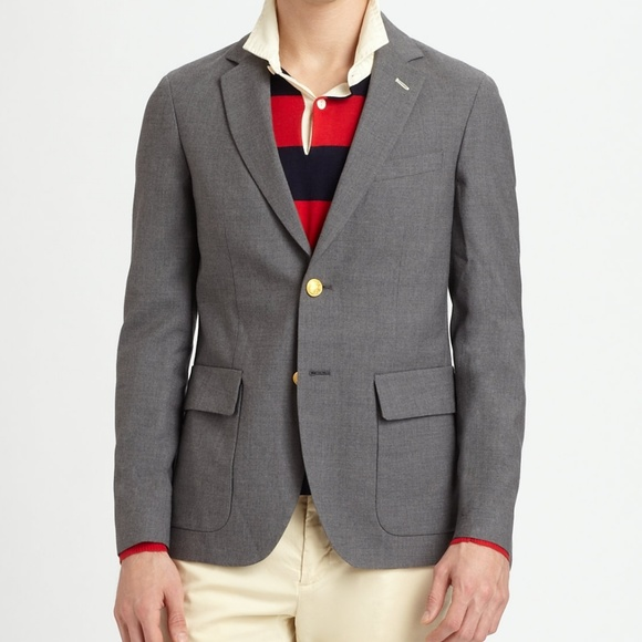 0bd1f99e64c Gant Suits & Blazers | Rugger The Hopsack Grey | Poshmark